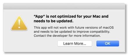 application non optimisée