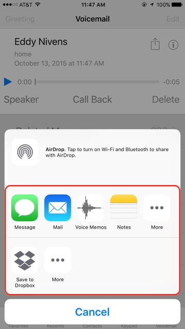 how to send a voice memo via text message
